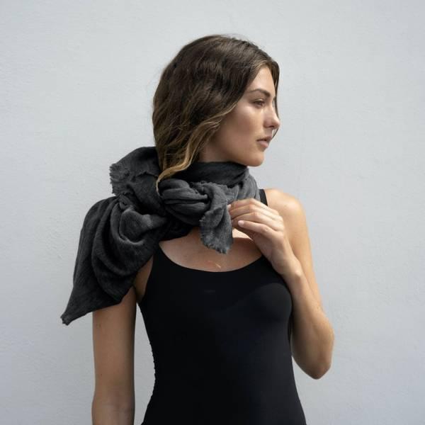 Natura Cashmere Luxury Scarf Dark Grey