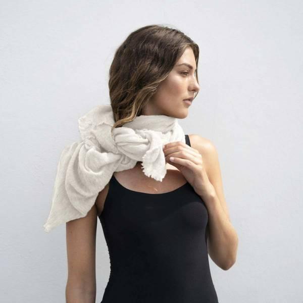 Natura Cashmere Luxury Scarf White
